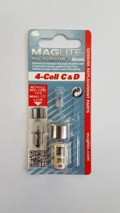 Maglite 4 Cell C & D Magnum Star II Xenon Replacement Bulb